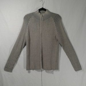 DKNY Jeans Zippered Sweater Lg